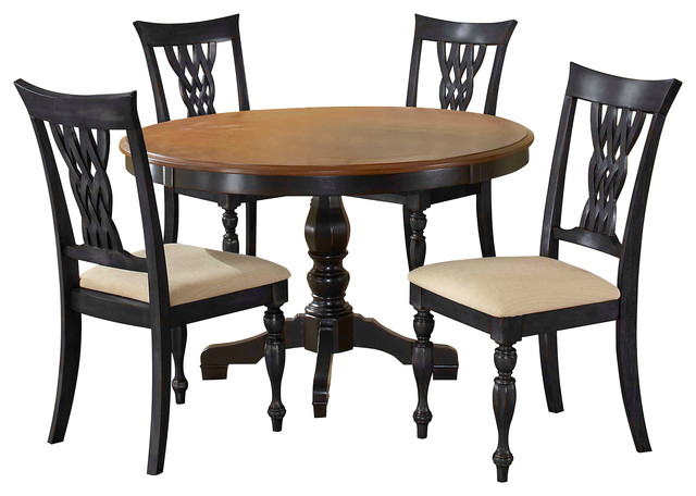 Embassy round pedestal dining table without chairs for Dining table without chairs