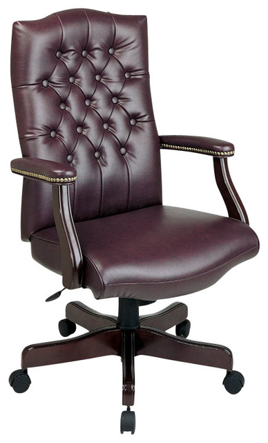 Office Star Traditional Executive Chair With Padded Arms.
