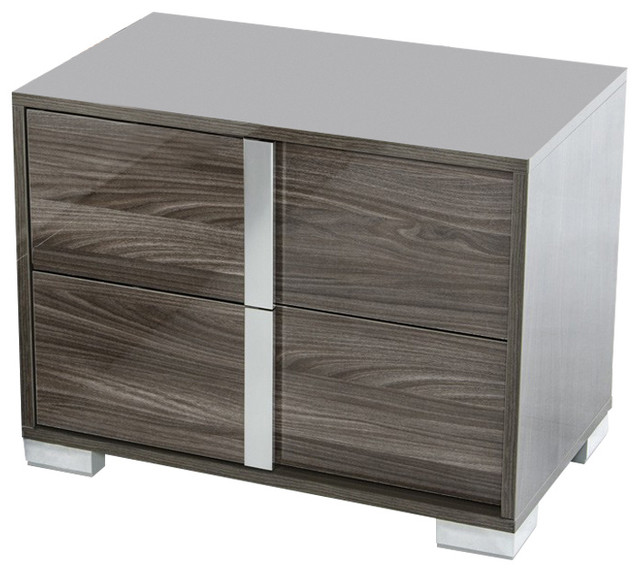Modrest San Marino Modern Gray Nightstand Modern Nightstands And Bedside Tables By Vig
