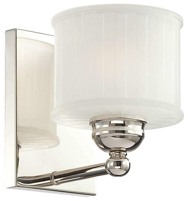 1730 Series Bathroom Light, Polished Nickel Transitional Bathroom Vanity  Lighting
