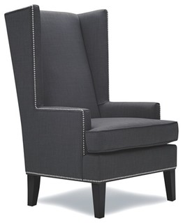 Stylish Wingback Accent Chair Transitional Armchairs And