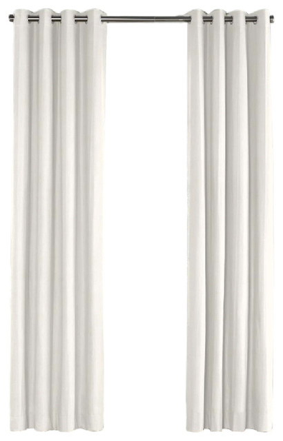ivory linen grommet curtain contemporary curtains by