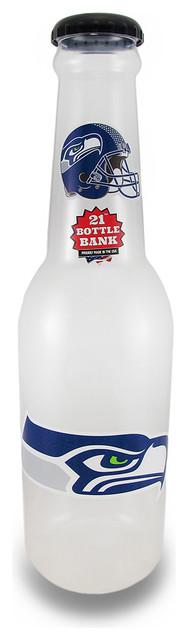 Nfl Seattle Seahawks Jumbo Bottle Coin Bank 21 In