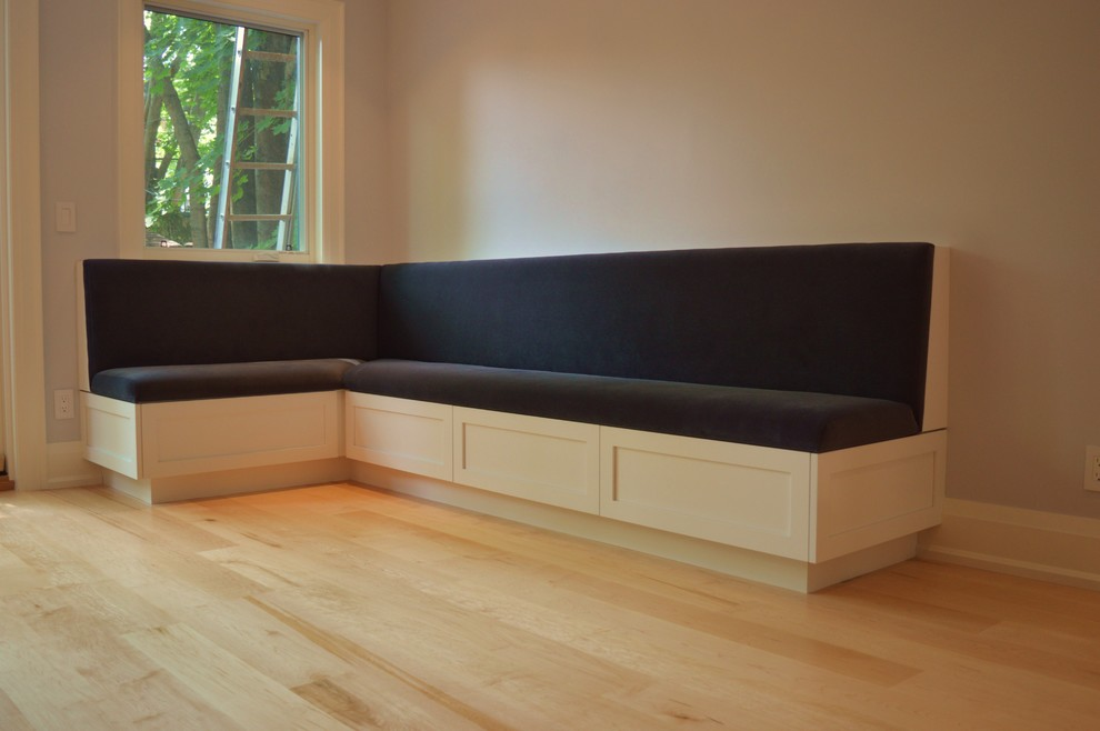 Custom Built-in Dining Room Banquette with storage