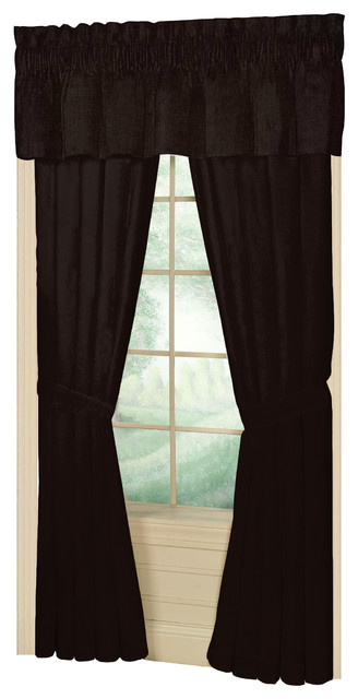 Brown Chambray Window Curtain 40x80 Pl;10 Lp.