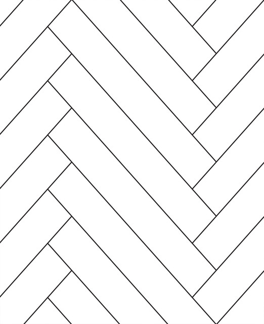 Herringbone Tile Pattern Peel And Stick Wallpaper Contemporary Wallpaper By Simple Shapes