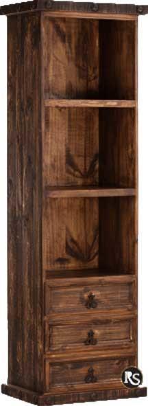 Rustic Narrow Bookcase