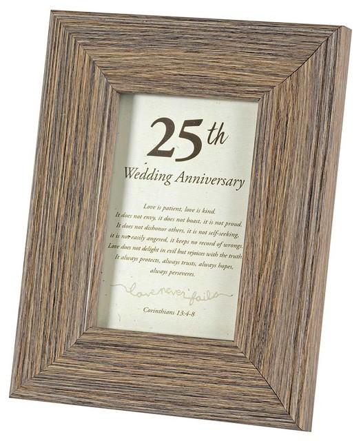 Photo Frame Table Top 25th Wedding 4 X6