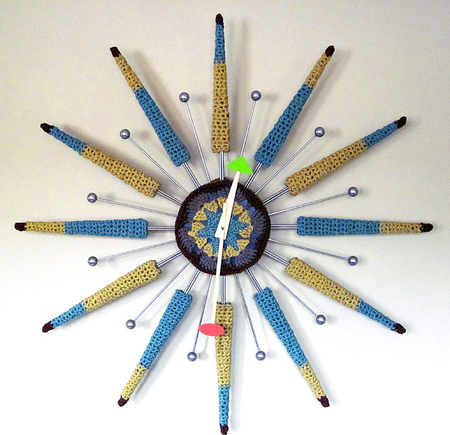 Half-Nelson Crochet Covered Wall Clock