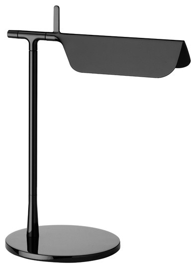 FLOS Official Tab T Black Color Modern Table Lamp by E. Barber and J. Osgerby by FLOS (USA)