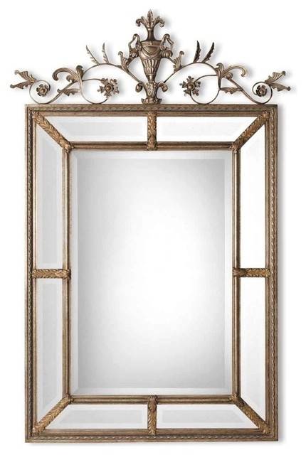 Victorian Floral Urn Wall Mirror, Ornate Antique Gold Frame ...