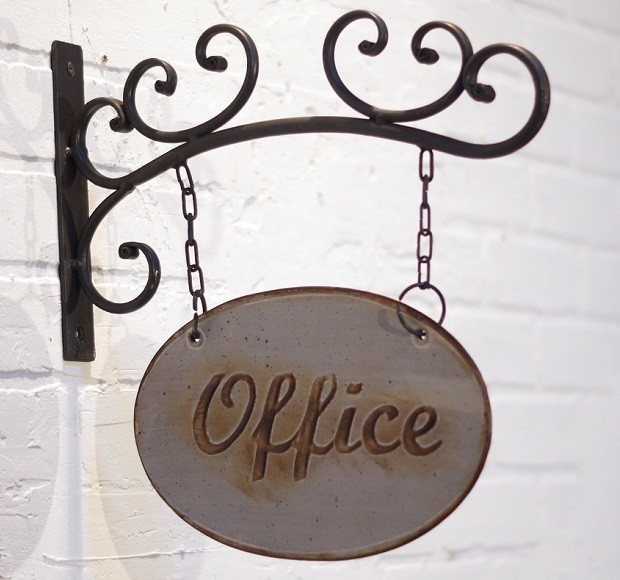 Metal Hanging Office Sign