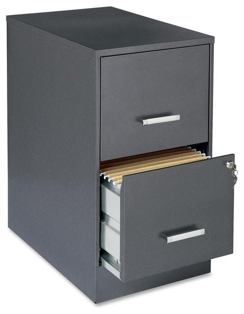 "Lorell Soho 22 2-Drawer File Cabinet, 14.3""X22""X26.7 ..."