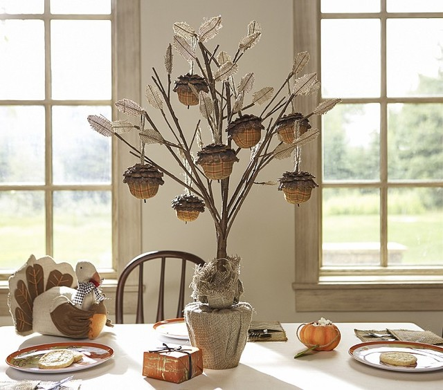 Thanksgiving tree centerpiece contemporary holiday
