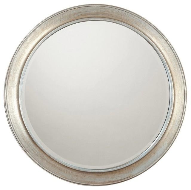 Capital Lighting Winter Gold Frame Round Mirror Beveled Mirror