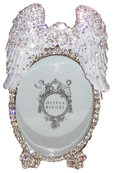 olivia riegel angel wings swarovski crystal photo frame traditional picture frames