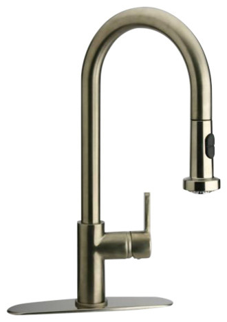 Piralla Arena Pull-Down Spray Kitchen Tap, Brushed Nickel