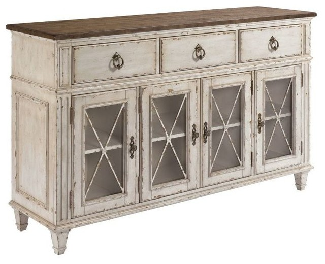 American Drew Southbury Sideboard, Fossil Tops and Parchment Bases - Farmhouse - Buffets And ...