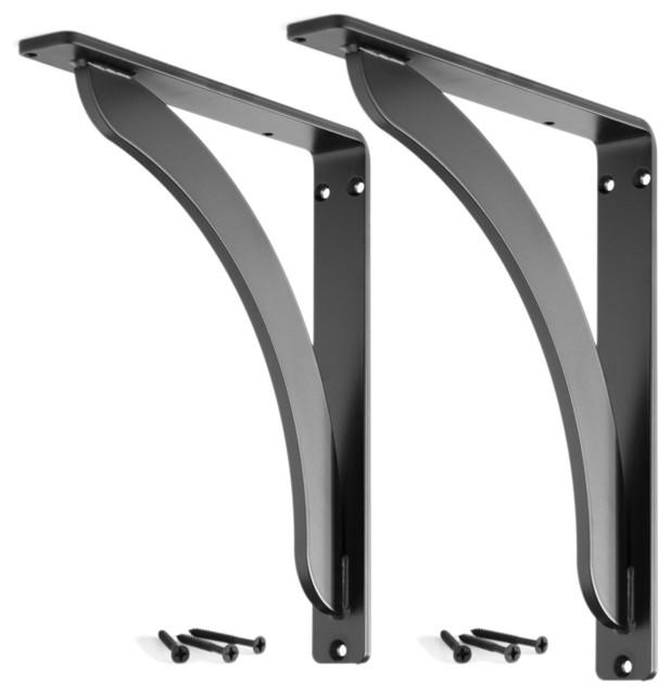 stout iron shelf bracket set of 2 contemporary. Black Bedroom Furniture Sets. Home Design Ideas