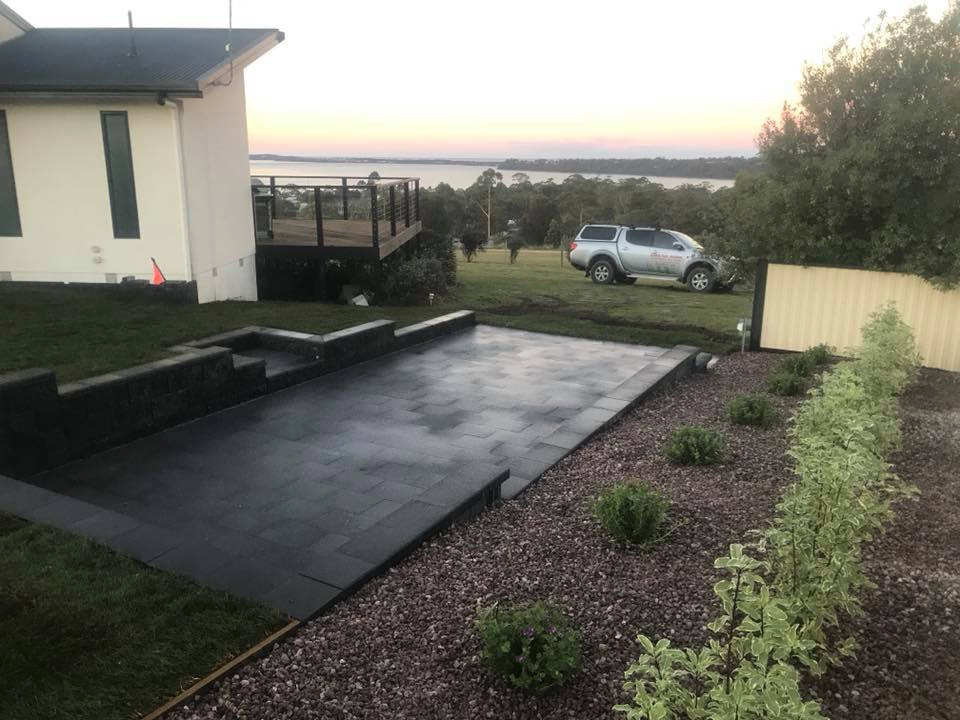 Paving and retaining walls -- St Helens