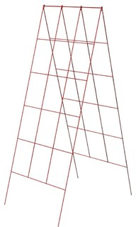 """Panacea Products 48"""" Red Afrm Plant Stand 83711"""