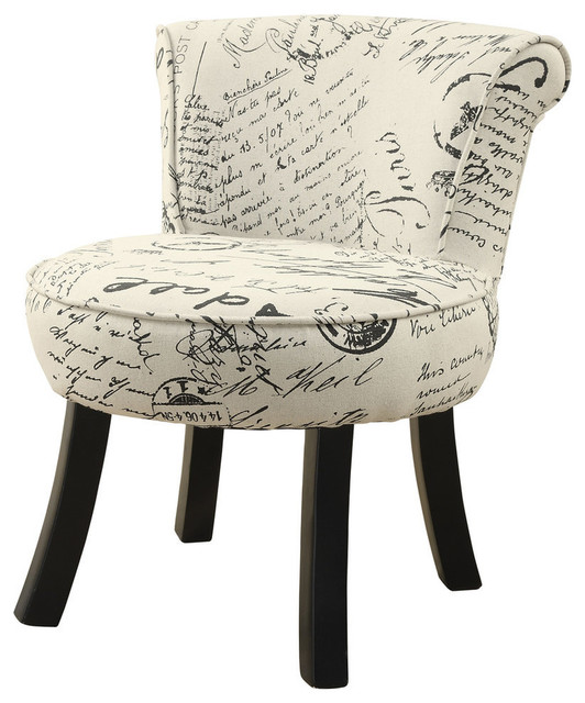Monarch Specialties Juvenile Chair Vintage French Fabric