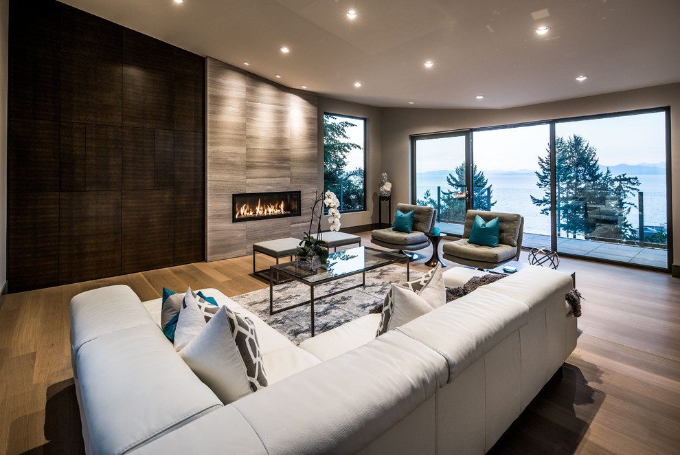 Example of a trendy home design design in Vancouver