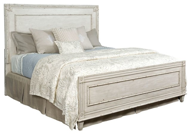 American Drew Southbury King Panel Bed, Parchment.