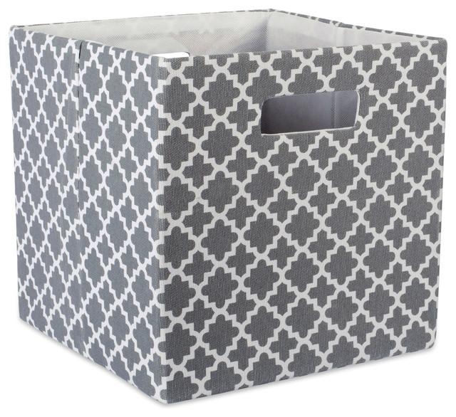 59eff6a4a109 DII Polyester Cube Lattice Gray Square 11x11x11