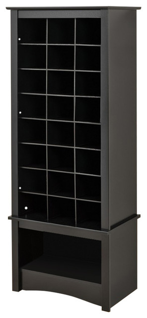 Prepac Black Tall Shoe Cubbie Cabinet - Entertainment Centers And Tv Stands - by BisonOffice