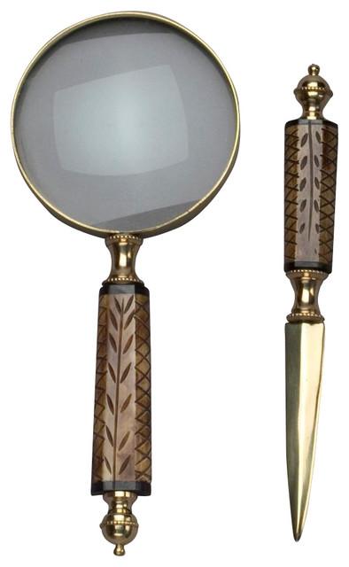 Magnifying Glass & Letter Opener Set.