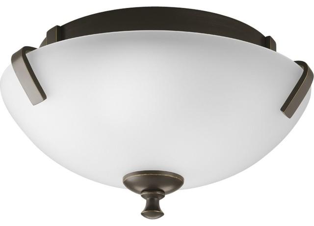 2-Light Close-To-Ceiling, Antique Bronze.