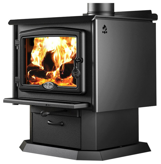 Osburn 2300 Wood Stove With Pedestal And Blower.