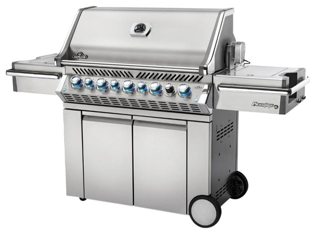 Napoleon Prestige Pro 665 Grill With Infrared Rear And Side Burner, Propane.