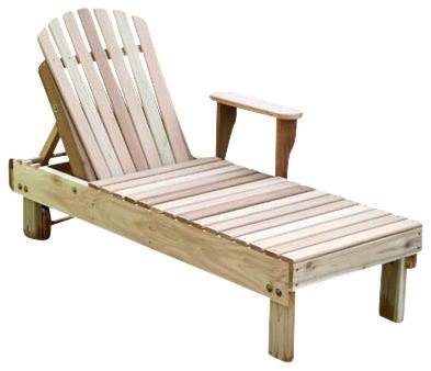 Red cedar keystone chaise lounge farmhouse outdoor for Cedar chaise lounge