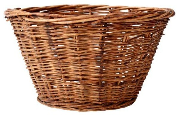 Consigned Antique Wicker Laundry Basket