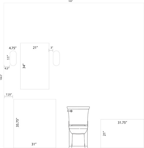 Bathroom Sconces Placement need help on bathroom vanity, sconces, mirror placement and size