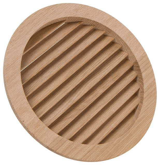 5-15/16 Round Wood Air Vent Grille.