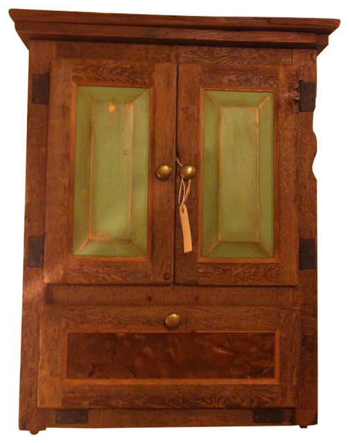 Reclaimed Wood Cabinets With Copper Accent Craftsman Buffets And Sideboards