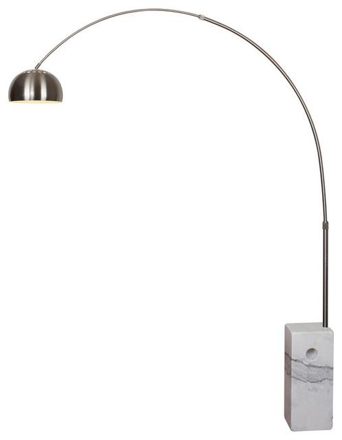 Soho Arc Floor Lamp White Marble Base