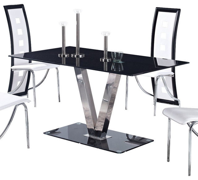 global furniture usa dining table black - Kitchen Table Sizes