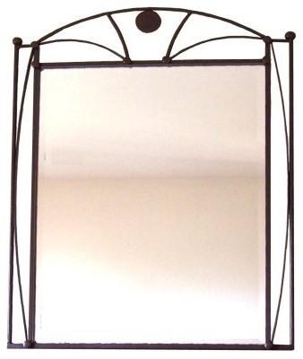Dome Beveled Wrought Iron Mirror