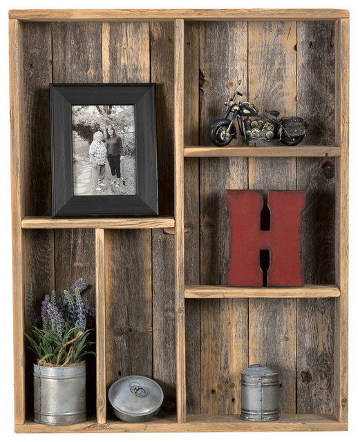 Yorson reclaimed wood wall shelf rustic display and for Barnwood shelves for sale