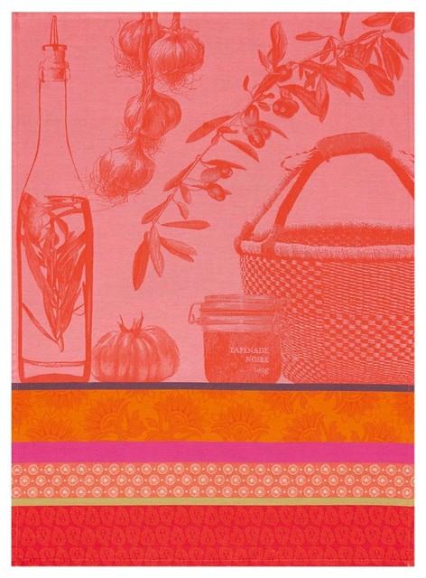 Provence Cotton Tea Towels, Watermelon, Set of 2