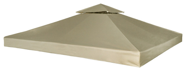 Vidaxl Waterproof Gazebo Cover Canopy 7.96 Oz/yards, Beige, 10&x27;x10&x27;.