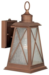 Vaxcel Lighting OP25595RC Antique Red Copper Orleans 1-Light Outdoor Post Light