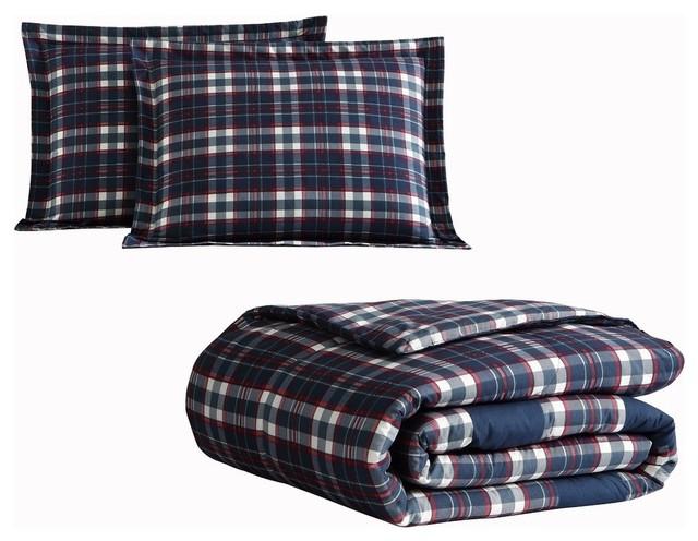 Mhf Home Lakewood 3 Piece Plaid Comforter Set Rustic Comforters And Comforter Sets By Morgan Home