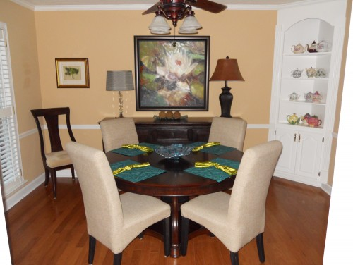 . Back height of dining table chairs