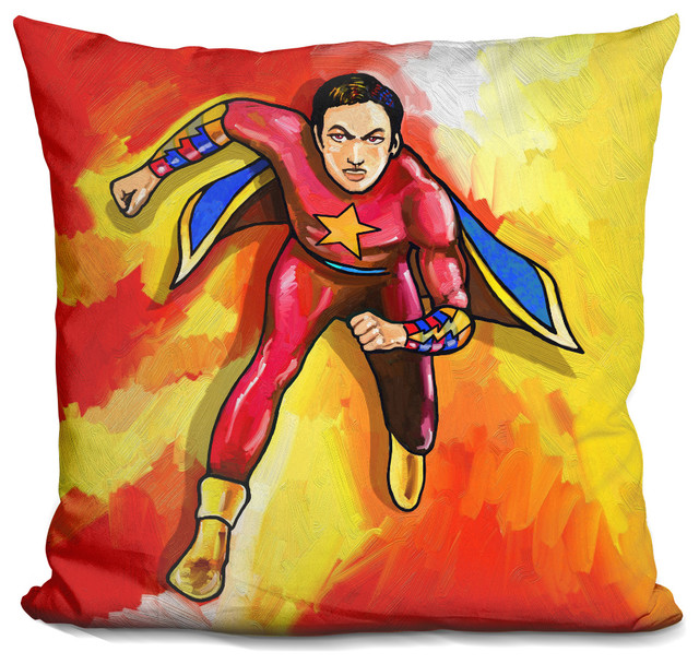 Pop Art Mr Superhero Decorative Accent Throw Pillow