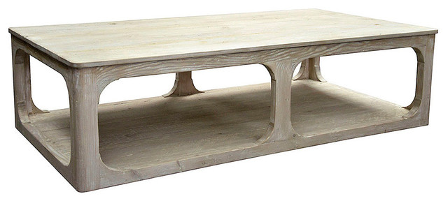 Reclaimed Lumber Gimso Coffee Table Gray Wash Wax Farmhouse Tables